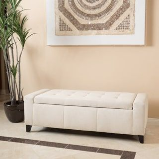 Guernsey Fabric Storage Ottoman Bench By Christopher Knight Home