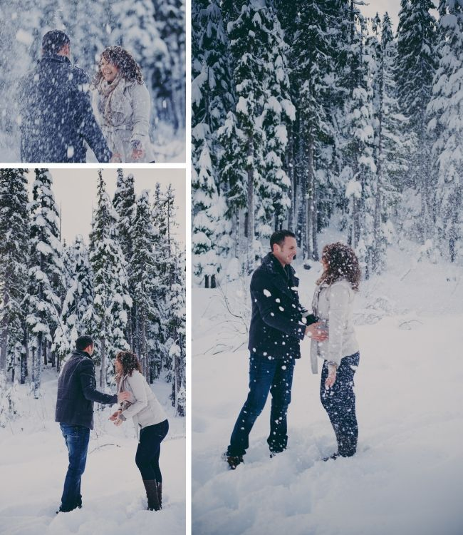 Engagement Photos Snow