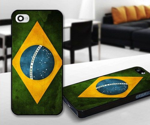Brazil Flag for iPhone 5 Black case | iPhoneCustomCase - Accessories on ArtFire