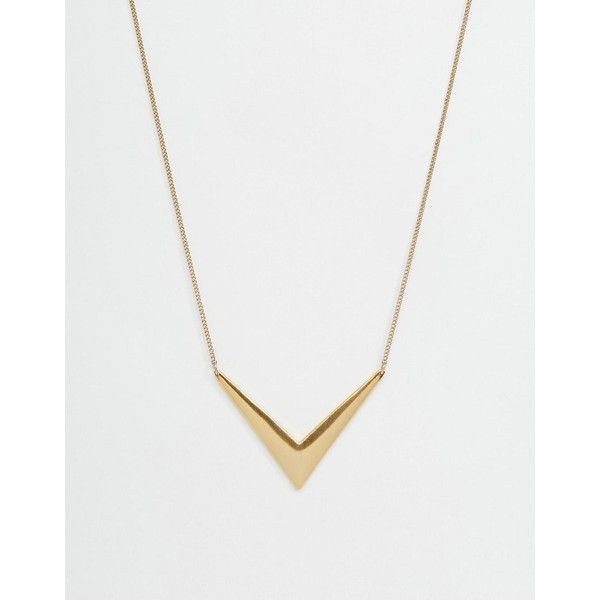 Pilgrim Arrow Necklace ($48) ❤ liked on Polyvore featuring jewelry, necklaces, gold, adjustable chain necklace, box chain necklace, pilgrim jewellery, pendant jewelry and chain necklaces