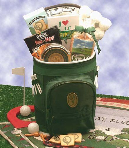 Tee Box Gourmet Gift Basket for Golfer's - Gift Tote for Him or Her Add it to your wishlist at yourwishfromme.com