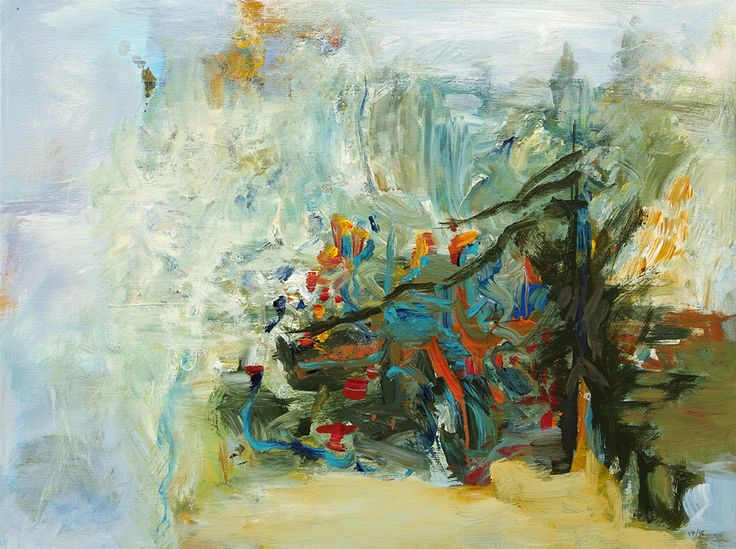 """Abstract Painting by Veronica Plewman - Northern Beach Trail, 2015 Acrylic on Canvas, 24"""" x 32"""""""