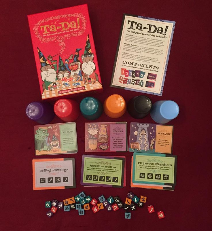 Game of the Week--Ta-Da! Welcome to a fast paced game of dice & spells! #gaming #games #tabletop #dicegames #tada #steveavery #coolminiornot #spells #wizards