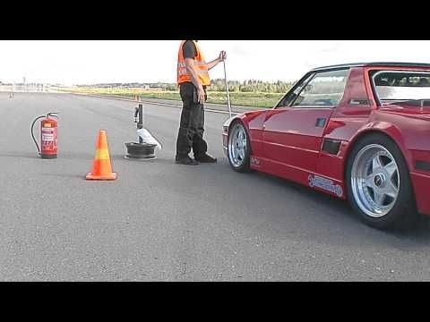 Fiat X1/9 T16 standing mile 326km/h - YouTube