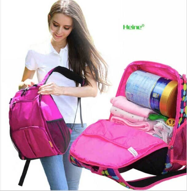 31.98$  Buy now - http://ali28k.shopchina.info/go.php?t=32593367516 - Baby Diaper Nappy Bag Mother Bag Large-capacity Mummy Package Multifunction Shoulder Backpack Nappy Changing Storage Diaper Bags 31.98$ #buyonlinewebsite
