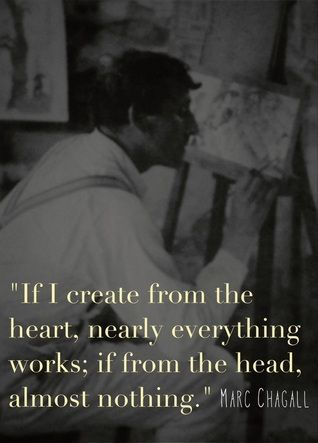 If I create from the heart, nearly everything works; if from the head, almost nothing. ~Chagall.
