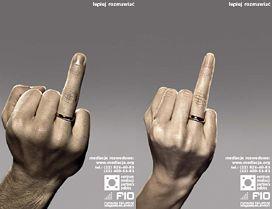 Kampania promująca mediacje rozwodowe.
