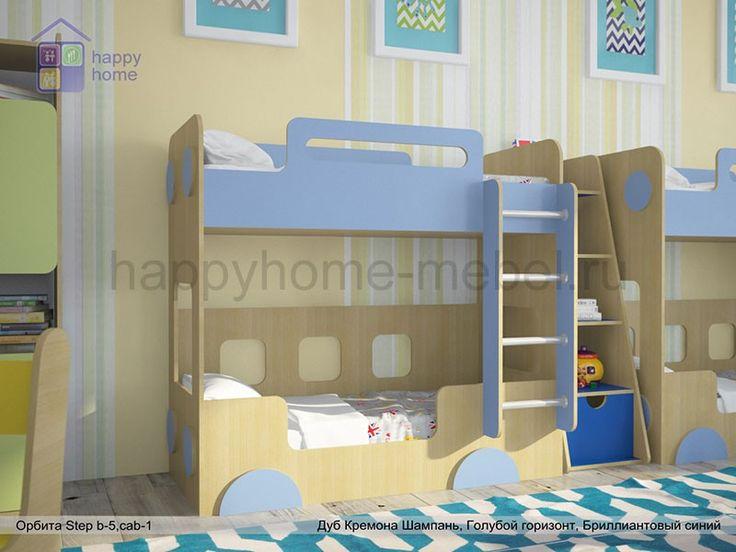 """Низкая двухъярусная кровать """"Автобус"""" (Орбита Step B5)"""