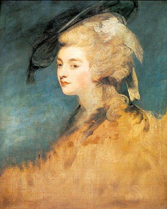 """JOSHUA REYNOLDS Retrato inacabado de """"Georgiana Spencer Cavendish, Duquesa de Devonshire"""""""