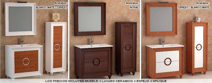 Muebles de Baño Almansa y columnas.