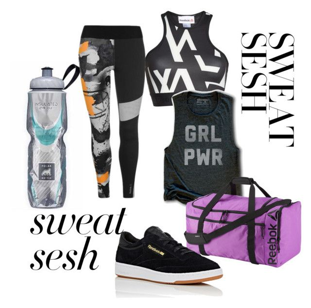 """""""Sweat Sesh"""" by maddy-s8674 on Polyvore featuring Reebok"""