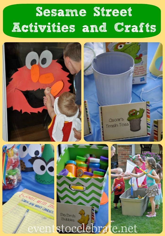 Sesame Street Themed Activities & Crafts - Events To Celebrate