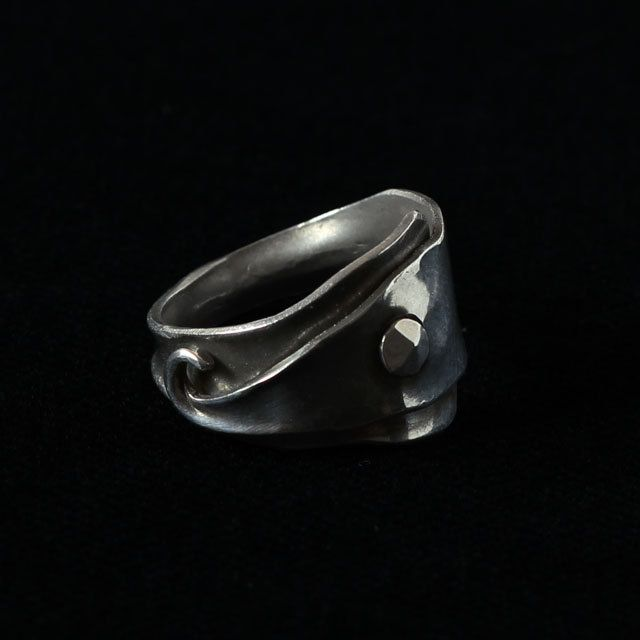 sterling silver ring, unisex silver ring by intuitashop on Etsy