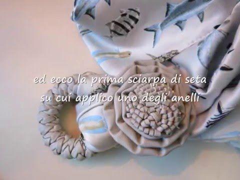 Tutorial Elisir Bijoux - gli anelli delle tende per personalizzare delle sciarpe gioiello - YouTube
