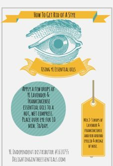 Young Living oils for treating a stye! Check out my blog for more info: delightingintheessentials.com