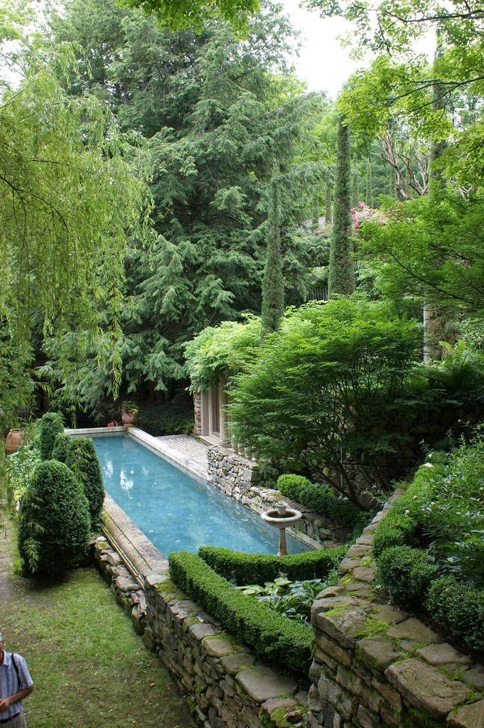 Garden And Pool Of Decorator And Landscape Designer Michael Trapp. Would  Even Work In A Small Backyard. No One Needs A Huge Pool.