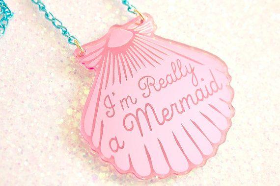 Custom mermaid necklace!
