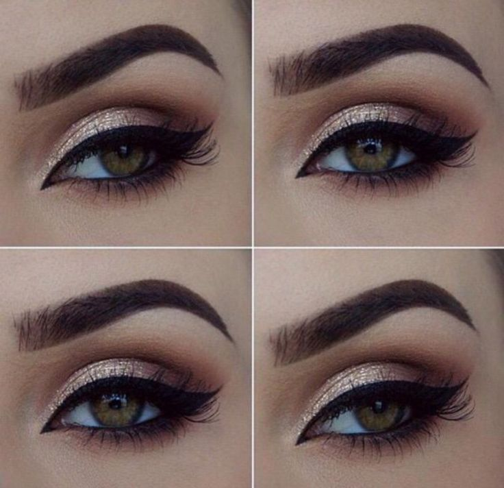 Makeup for black and cream dress