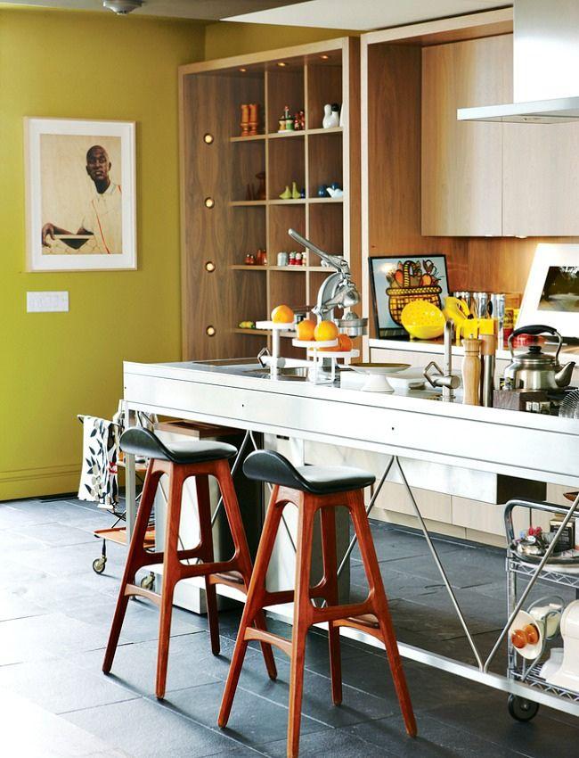 mid century stools   toronto loft kitchen   naomi finlay photo
