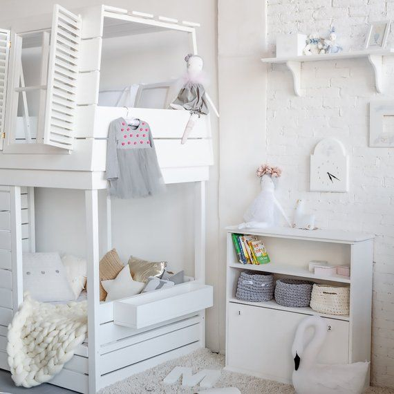 Bunk Bed Girls Loft Bed Boys Loft Bed Playhouse Bed Etsy