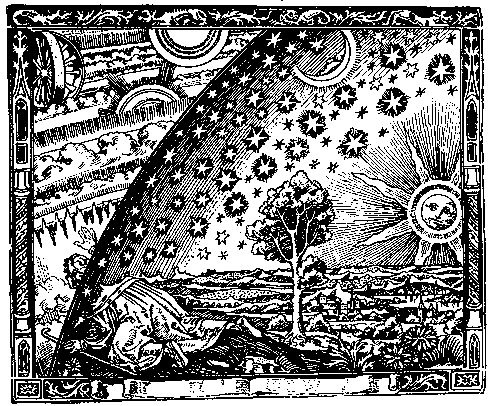Camille Flammarion, L'Atmosphere: Météorologie Populaire (Paris, 1888), p. 163.  Original woodcut by Flammarion.  History of Science Collections, University of Oklahoma Libraries.