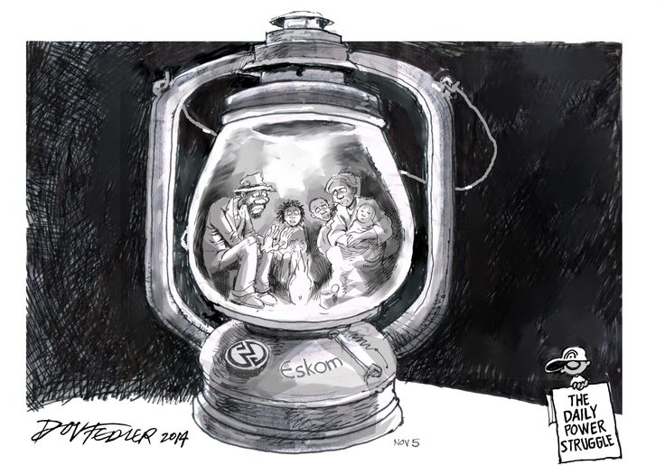 The latest Business Report weekly cartoon deals with the blackouts caused by Eskom.  To read this and other stories click here: http://www.iol.co.za/business