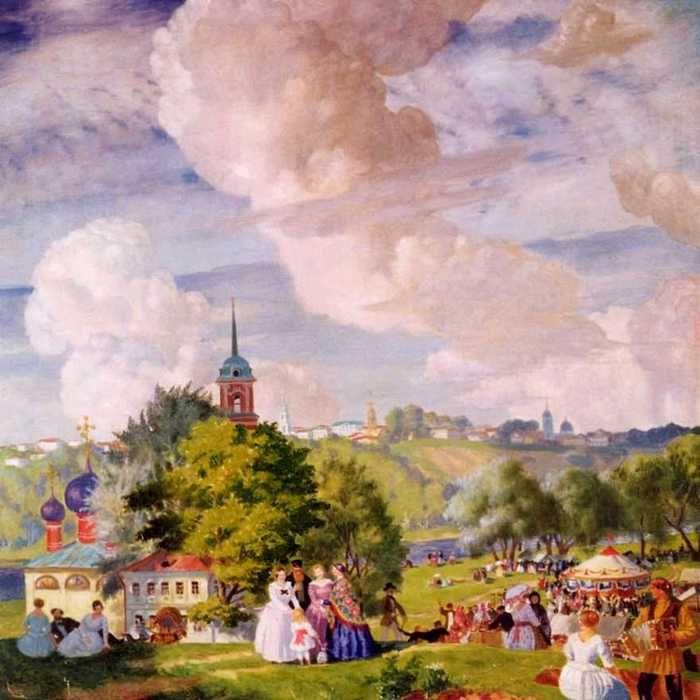 Борис Кустодиев.Летний праздник