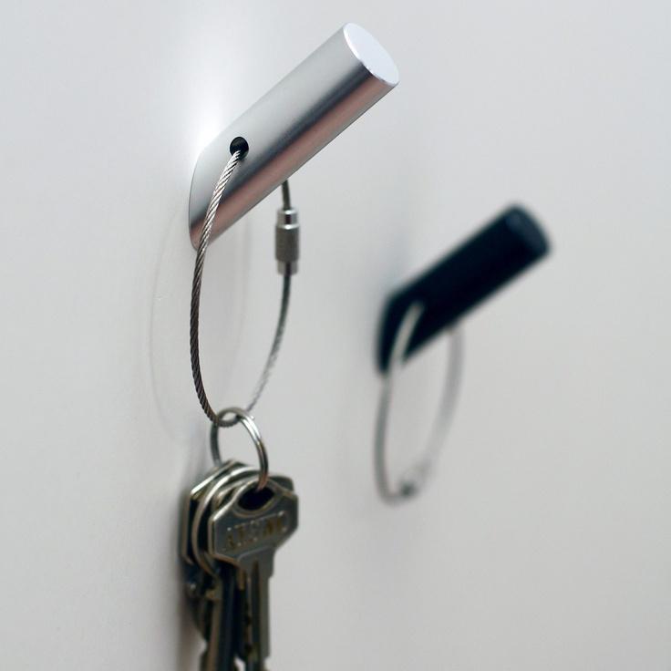Porte-clef magnétique argent