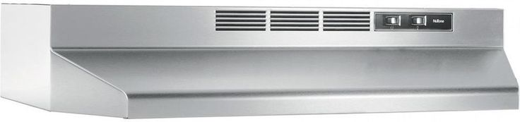 Stainless Steel 30 In. Non-Vented Ductless Under Cabinet Exhaust Fan Range Hood #NuTone