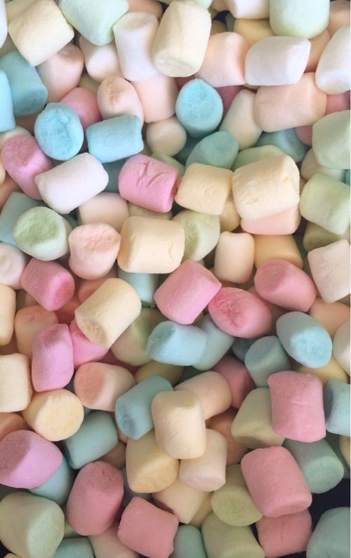 Pastel Marshmallows iphone phone wallpaper background lockscreen!                                                                                                                                                      Más