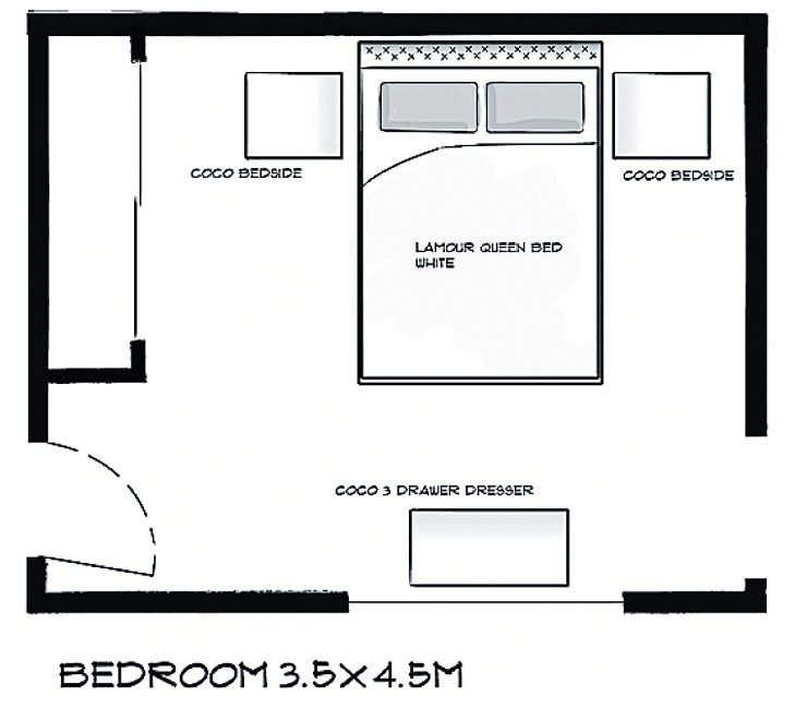 Bedroom Layout Interior Real Estate Midouza