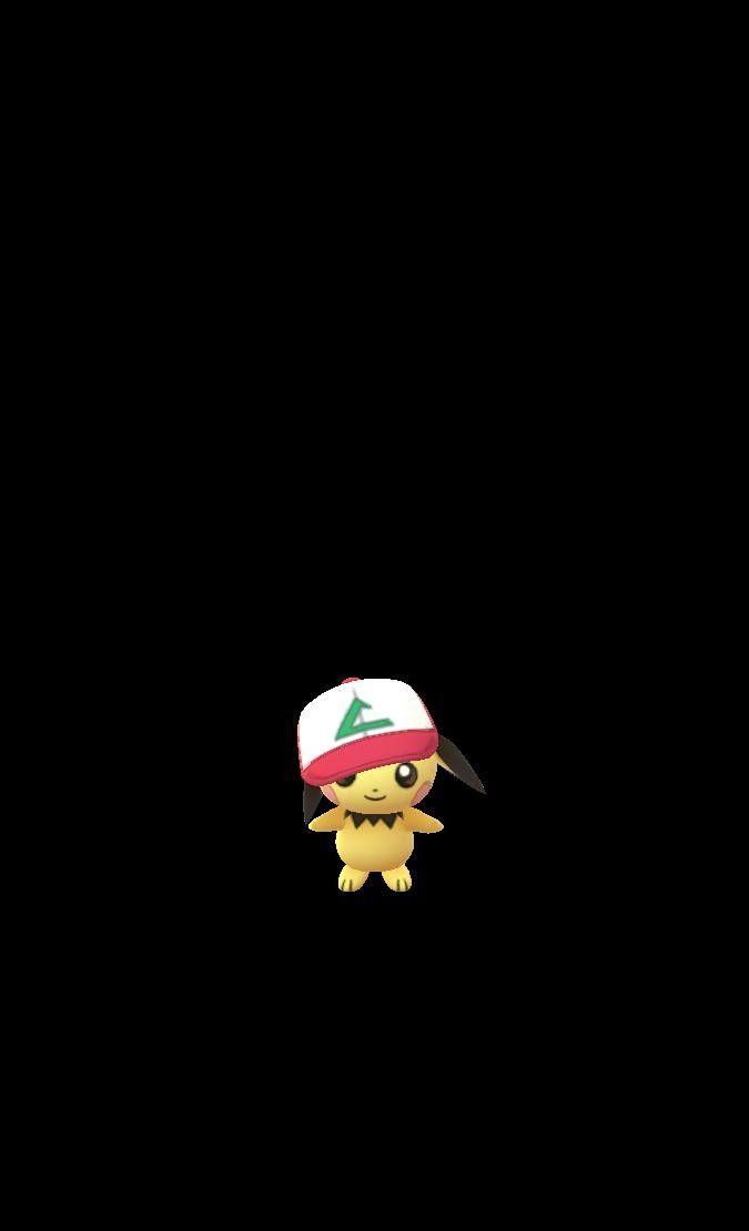 Pichu Wearing Ash S Hat Pokemon Pokemon Go Ash Hat