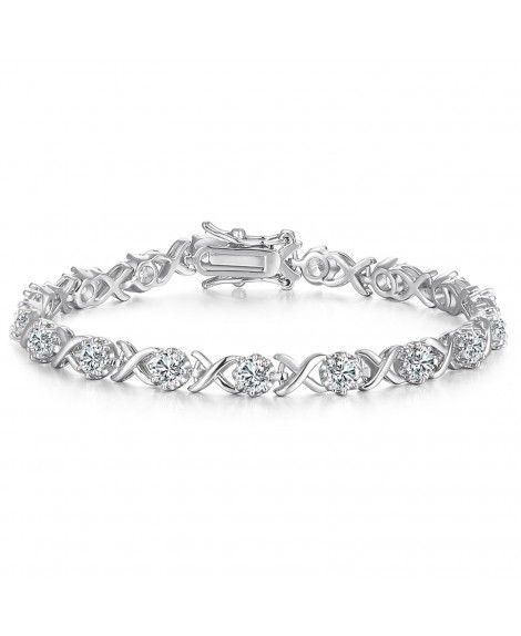 Sterling silver zirconia bracelet