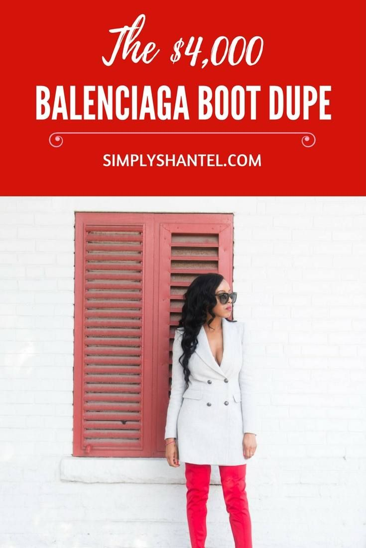 The Balenciaga Knife Boot Dupe that Kylie Jenner wore at the Pretty Little Thing Launch Party in LA