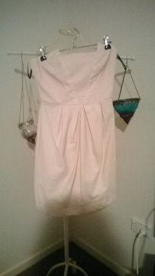 Size 8 'Miss Shop' Silky Light Pink Structured Dress