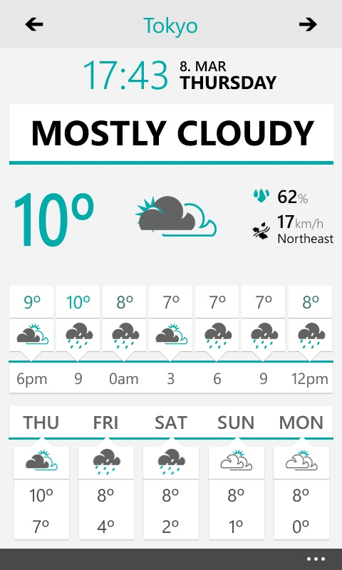 Weather Flow / White Theme - Windows Phone App: Design Inspiration, Ui Design, Windows Phone, App Btw, Window Phones, Weather Flowing, User Interface, Phones App, Flowing Window