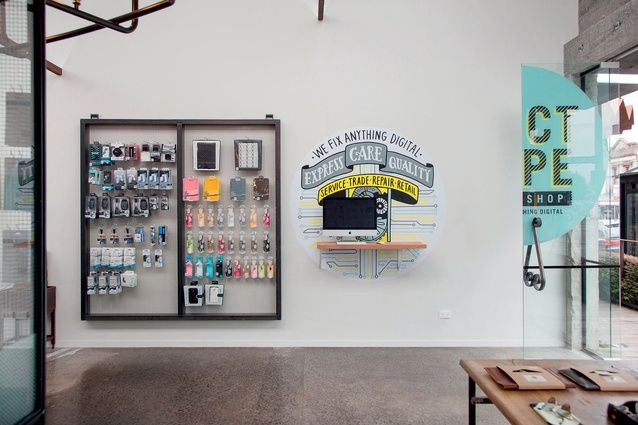 Handcrafted displays and signage at Duct Tape Workshop. | Duct Tape Workshop (Ponsonby Central, Auckland). | Photo by the talented Jeremy Toth | Fit out by Material Creative.