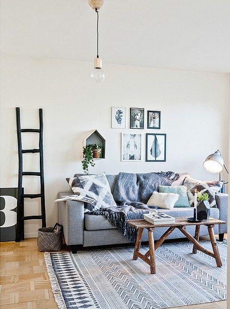 #livingroom prachtig house doctor block vloerkleed met grafische print