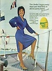 Undie-L'eggs stays put. And no panty lines Joyce De Witt pantyhose ad 1980