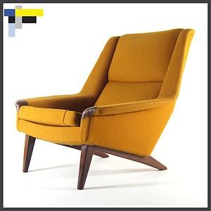 Retro Vintage Danish Fritz Hansen Rosewood Easy Lounge