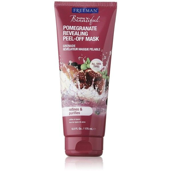 Freeman Feeling Beautiful Facial Revealing Peel-off Mask, Pomegranate,... (£5.46) ❤ liked on Polyvore featuring beauty products, skincare, face care, face masks, peel mask, facial peel mask, face mask, facial mask and face peel mask