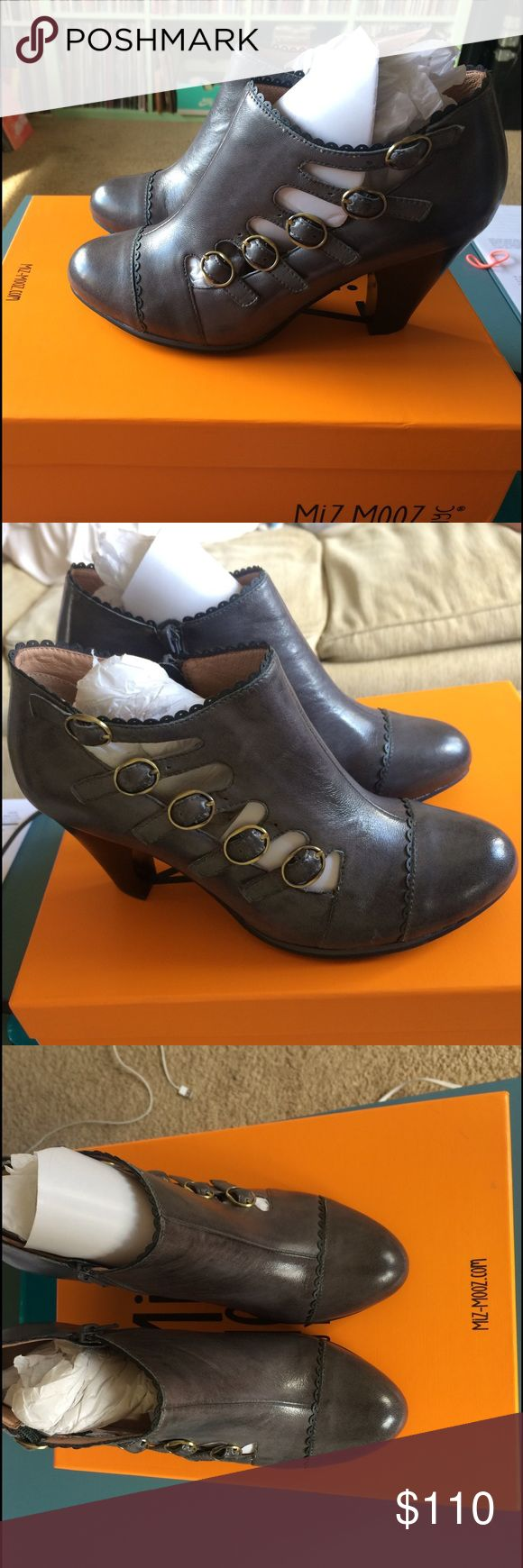BRAND NEW Miz Mooz Charita booties US7,5-8 Got them as a gift but they are not really my style! Completely flawless comes with box and also extra heel bits!! Make an offer! Original is $147 so no low balling please! Miz Mooz Shoes Ankle Boots & Booties