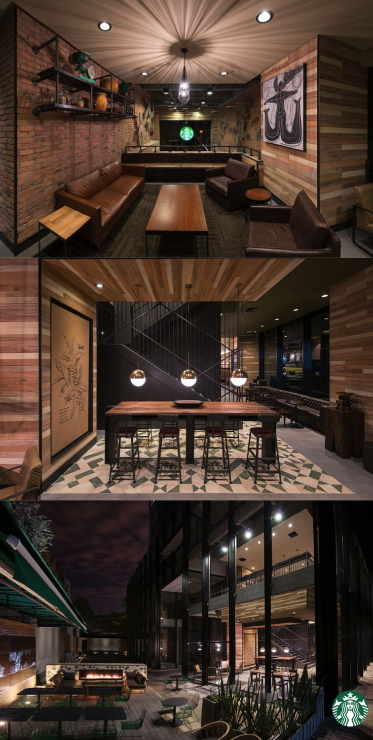 This Starbucks store in Bogota, Colombia was inspired by local craftsmanship and the region's rich coffee landscape. The store showcases locally produced concrete and handmade mineral floor tiles throughout.