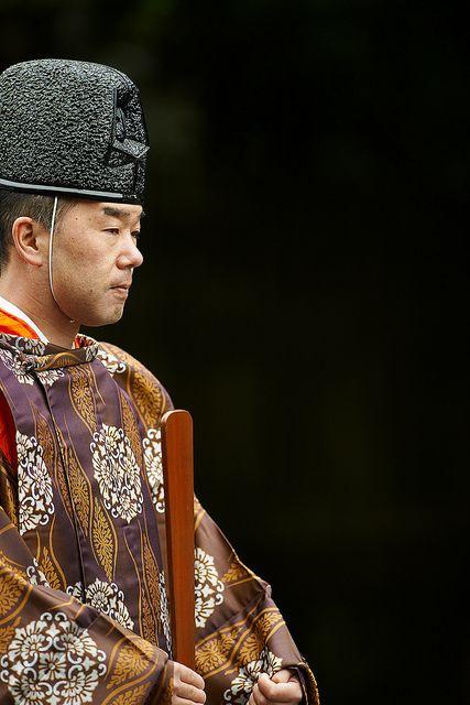 The priest of Kamakura Hachiman shrine, Japan
