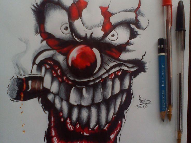 Skull Icp Clown Drawings Evil