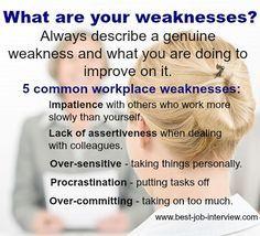 weaknesses resumes