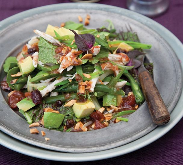 Last week's recipe of the week can be used in the simple dressing for this crunchy, creamy, sweet and spicy salad! #recipeoftheweek