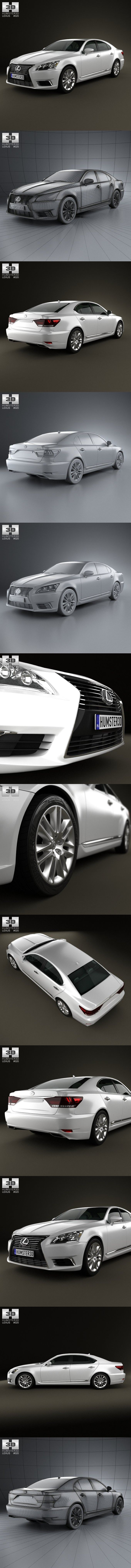 LS-LAND ls-model ls-magazine ls-island Lexus LS (XF40) 2012. 3D Vehicles