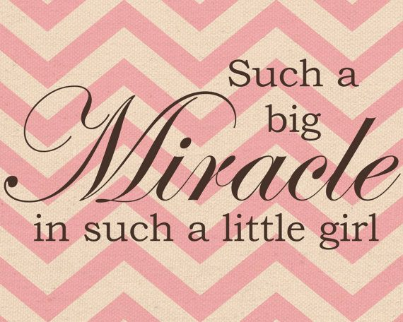 8x10 big miracle little girl Nursery Print 5 by aokaydesigns