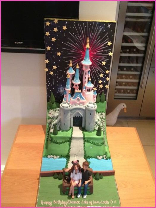 One Direction Louis Tomlinson Gets His Girlfriend Eleanor Calder A Disney Birthday Cake